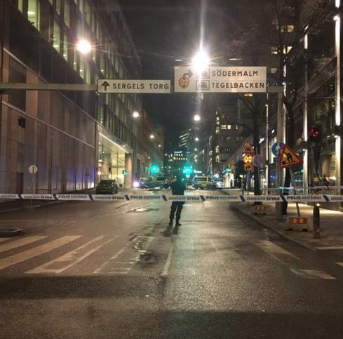 Последствия взрыва в Стокгольме