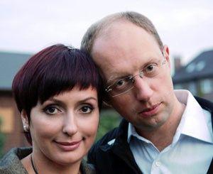 Арсений Яценюк с женой Терезией
