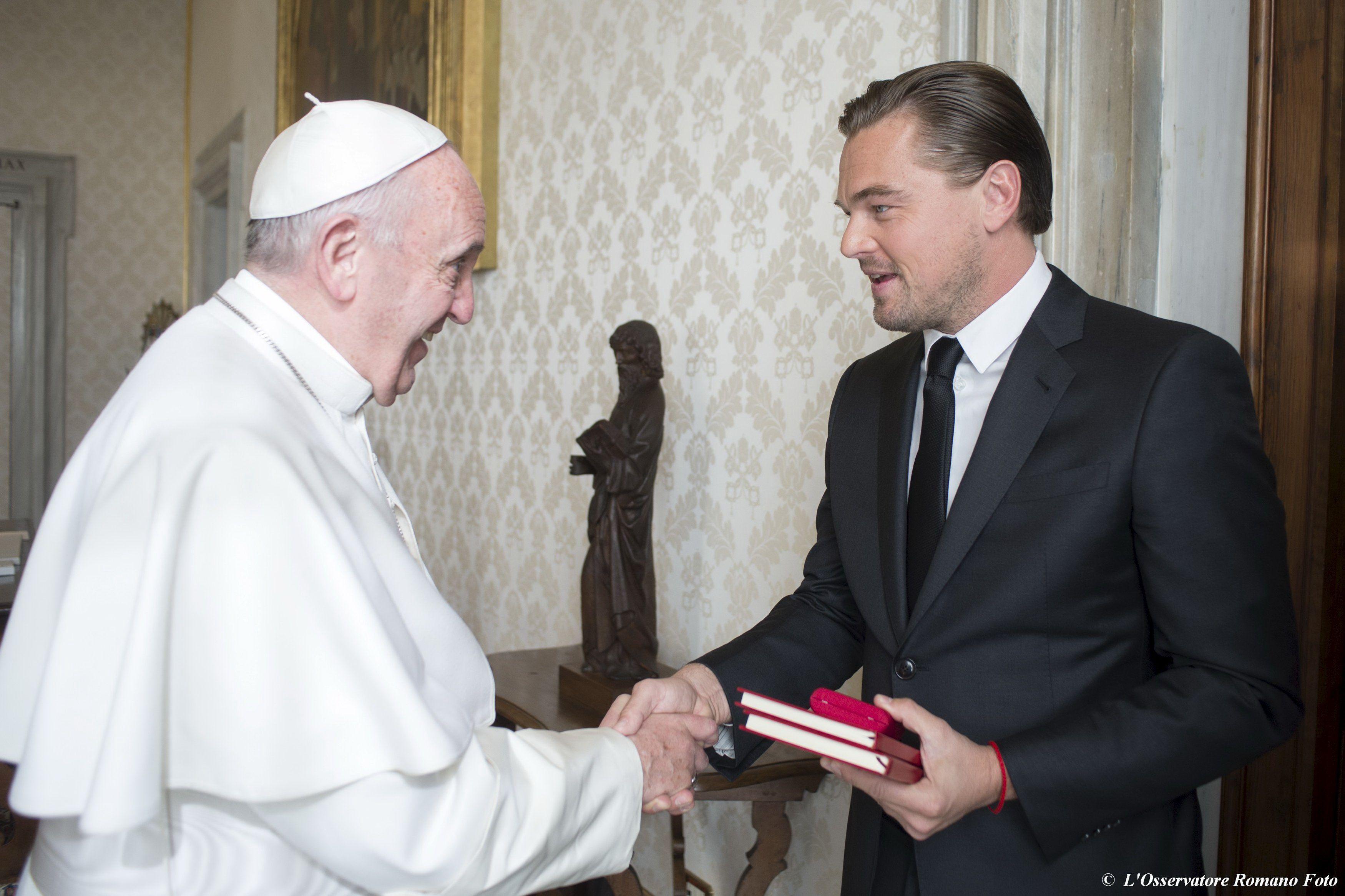Леонардо ДиКаприо и Папа Римский