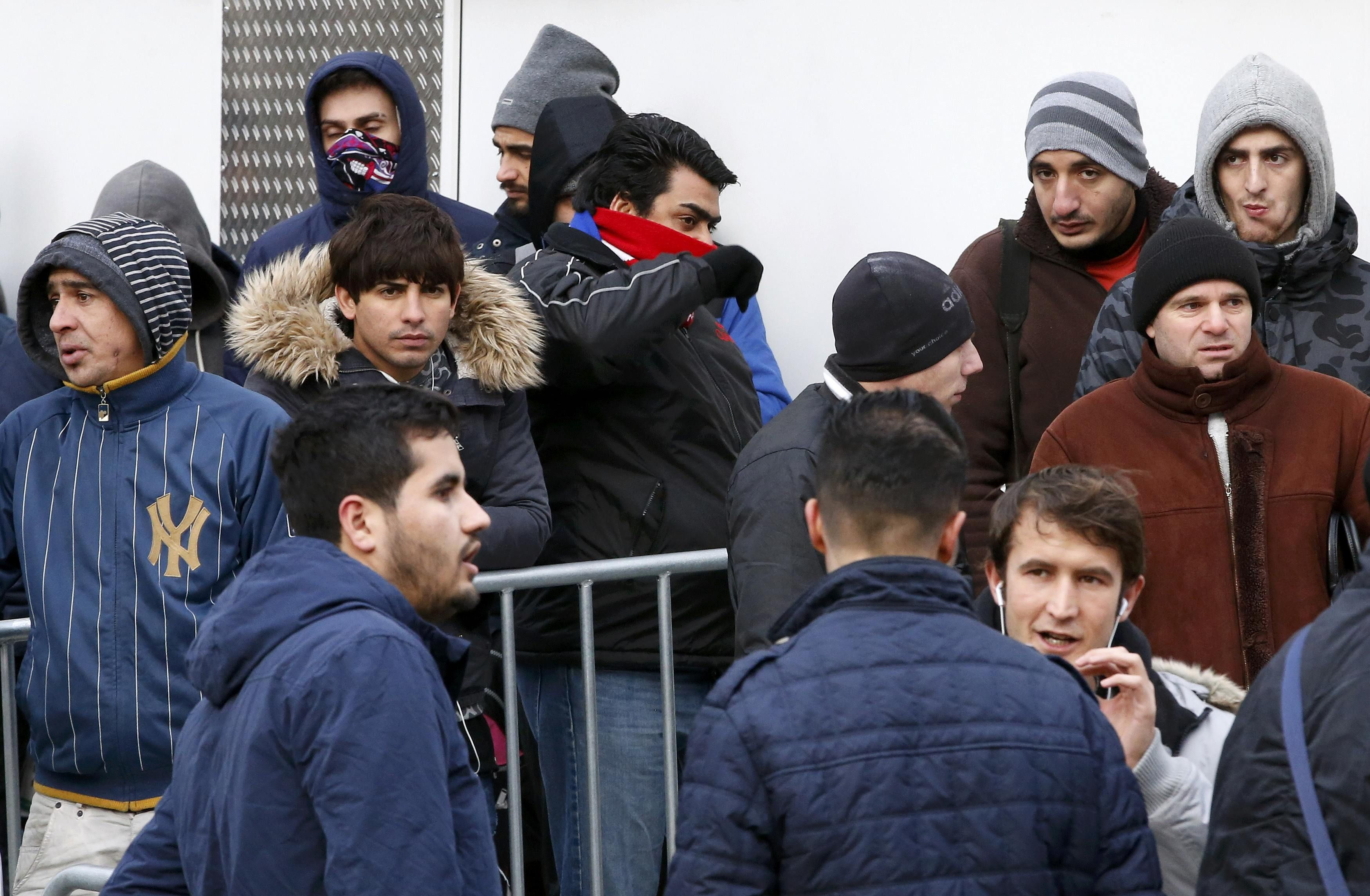 Мигранты в Берлине, иллюстрация