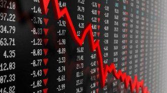 биржа, падение, снижение