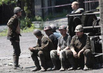 Горняки на Донбассе