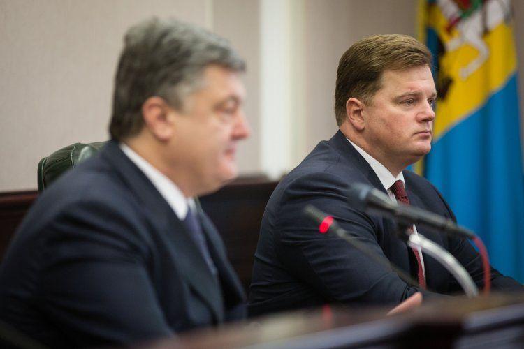 Петр Порошенко и Максим Мельничук
