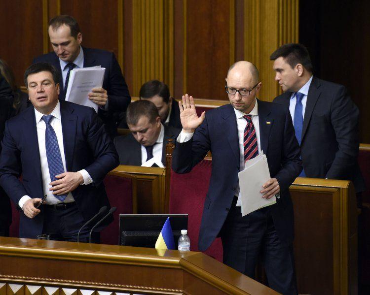 На сегодня запланирован отчет Яценюка в Раде.