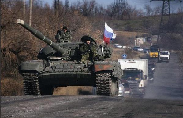 Российские танки на Донбассе, иллюстрация.