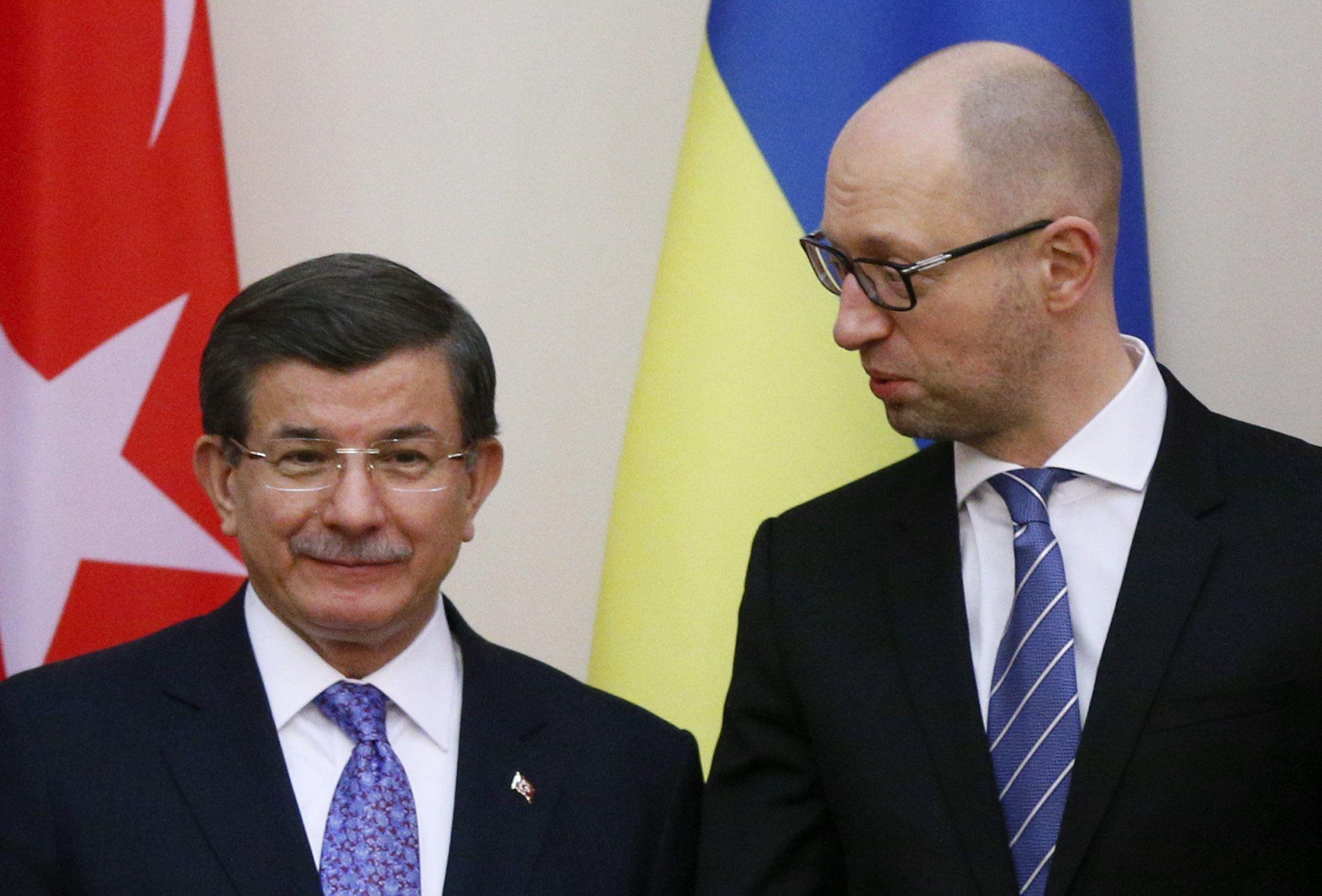 Арсений Яценюк и Ахмет Давутоглу