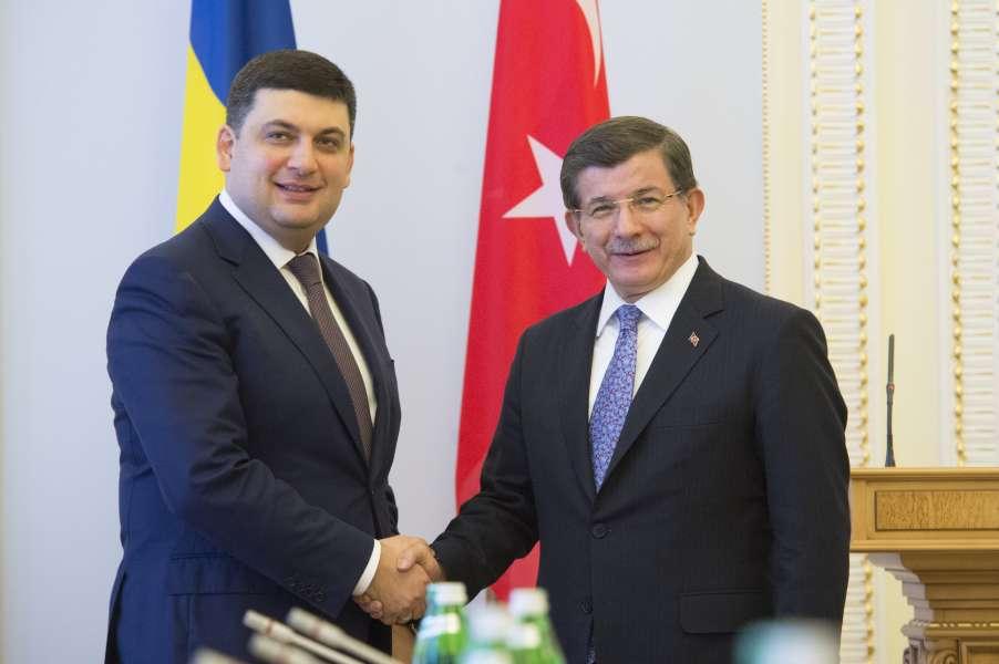 Владимир Гройсман и Ахмет Давутоглу