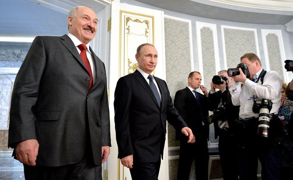 Путин, Лукашенко, Минск