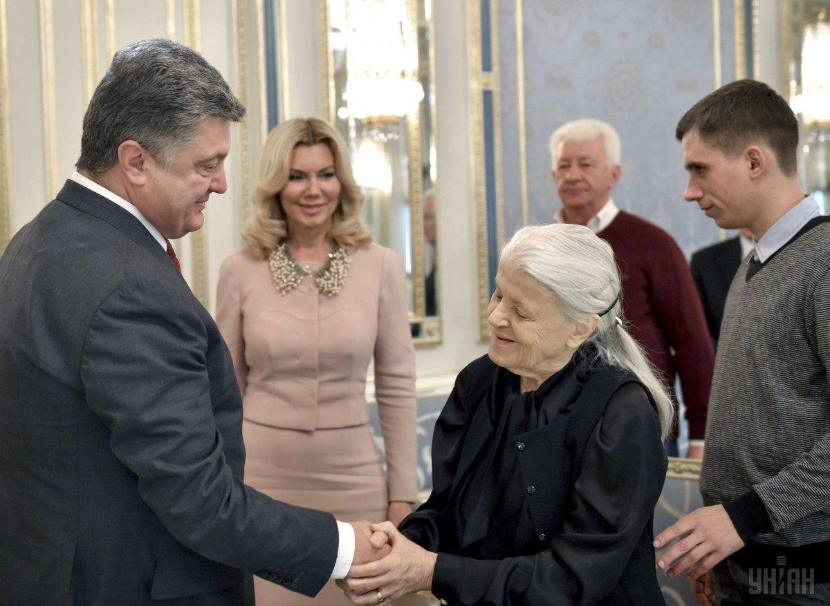 Петр Порошенко и Валерия Вирская