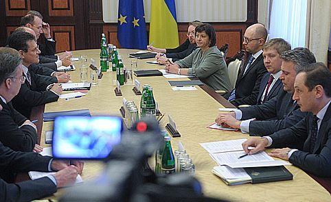 Встреча с вице-президентом Еврокомиссии Марошем Шефчовичем.