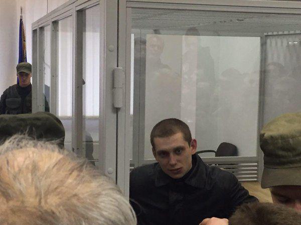 Сергей Олейник в суде.