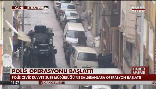 Две террористки закидали гранатами полицейский участок