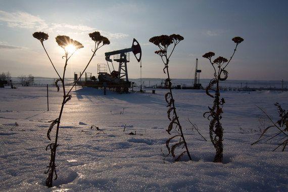 Нефть, Россия, снег