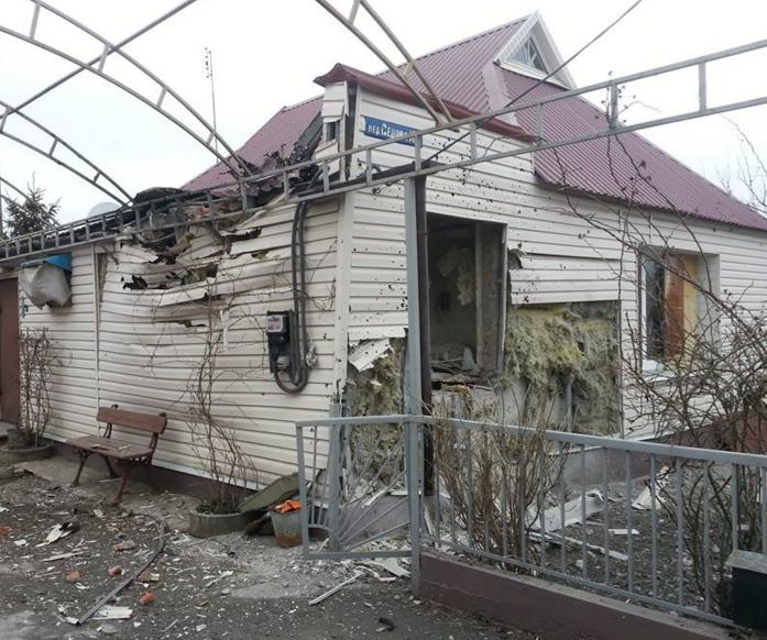Разрушенный дом в Авдеевке, иллюстрация.