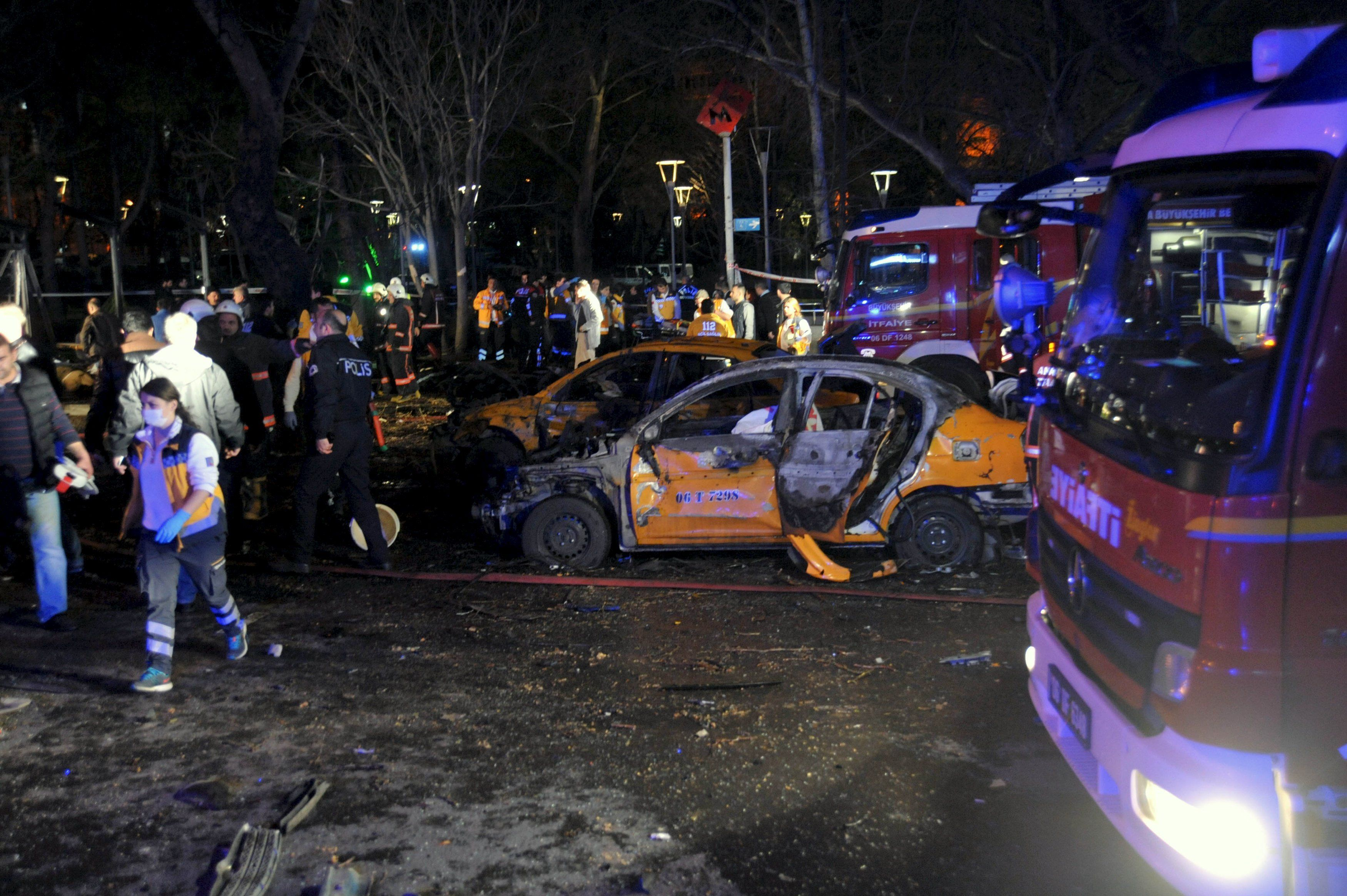 Место взрыва в Анкаре, иллюстрация