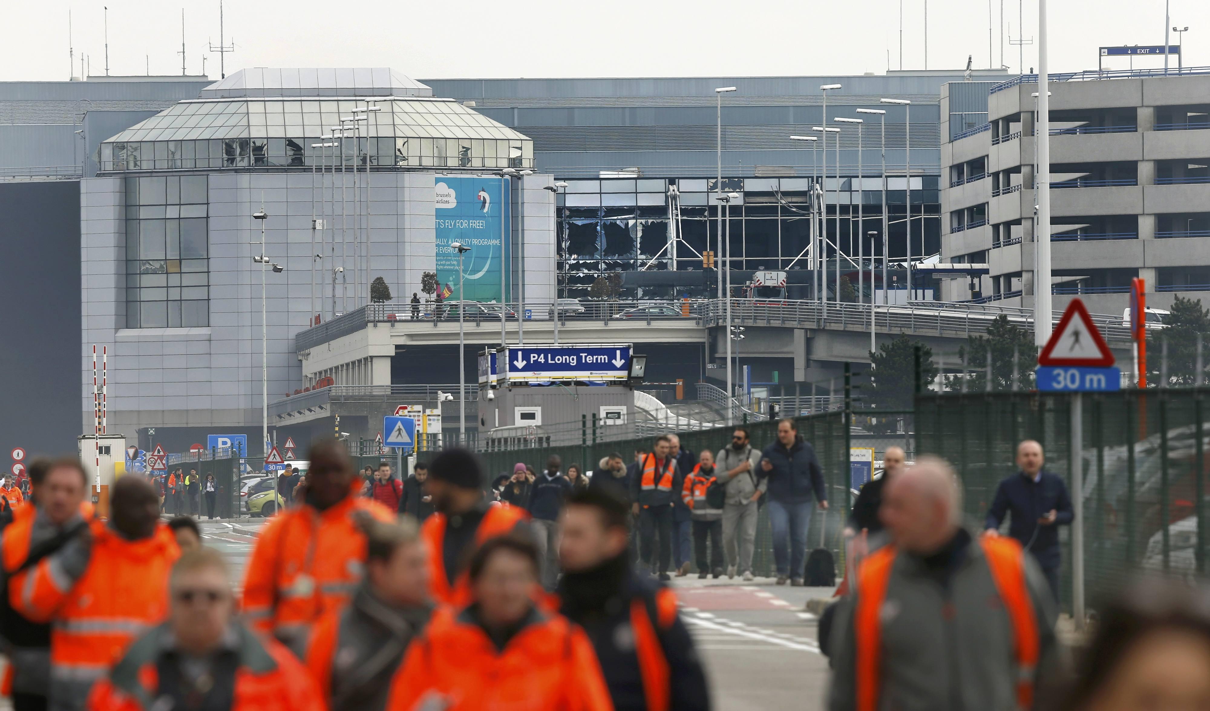 Последствия теракта в Брюсселе, иллюстрация
