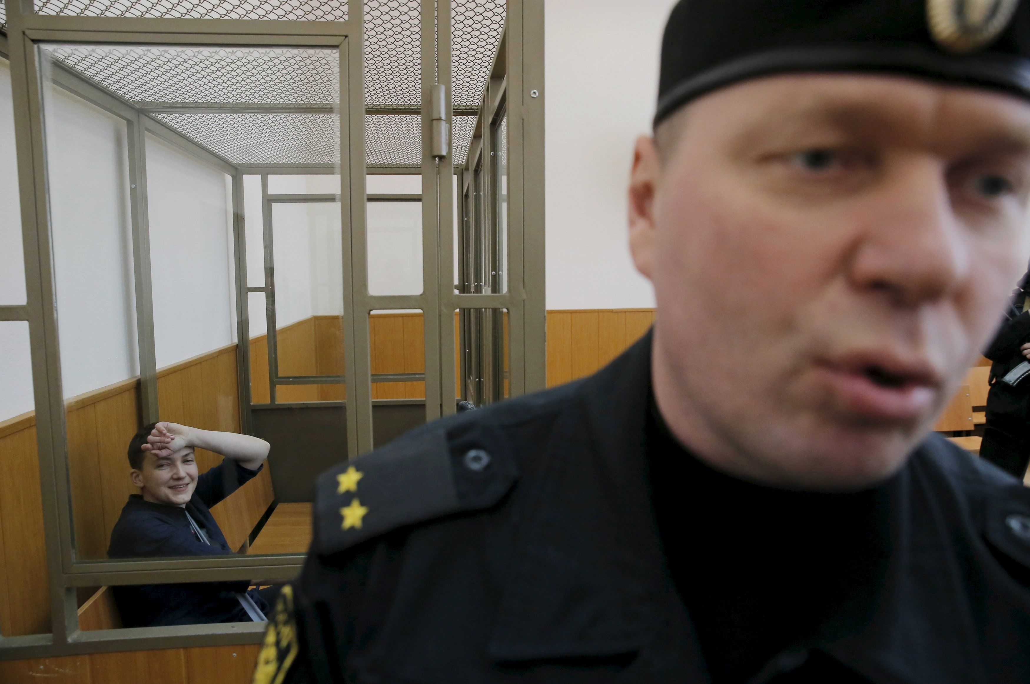 Надежда Савченко в Донецком горсуде