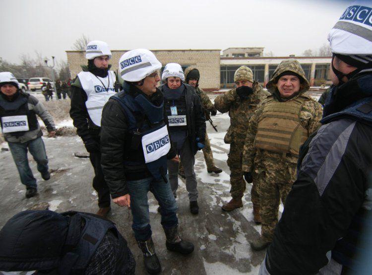 Наблюдатели миссии ОБСЕ на Донбассе, иллюстрация.