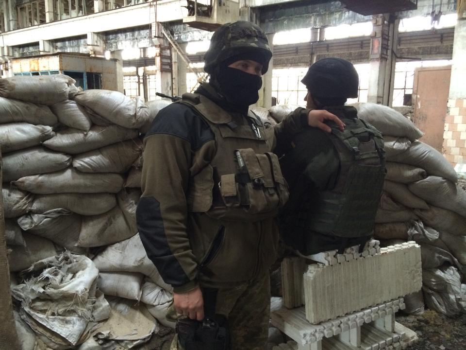 Украинские военные в промзоне Авдеевки