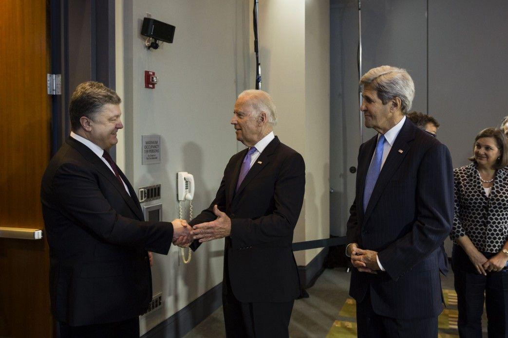 Петр Порошенко в Вашингтоне. Встреча с Джо Байденом и Джоном Керри