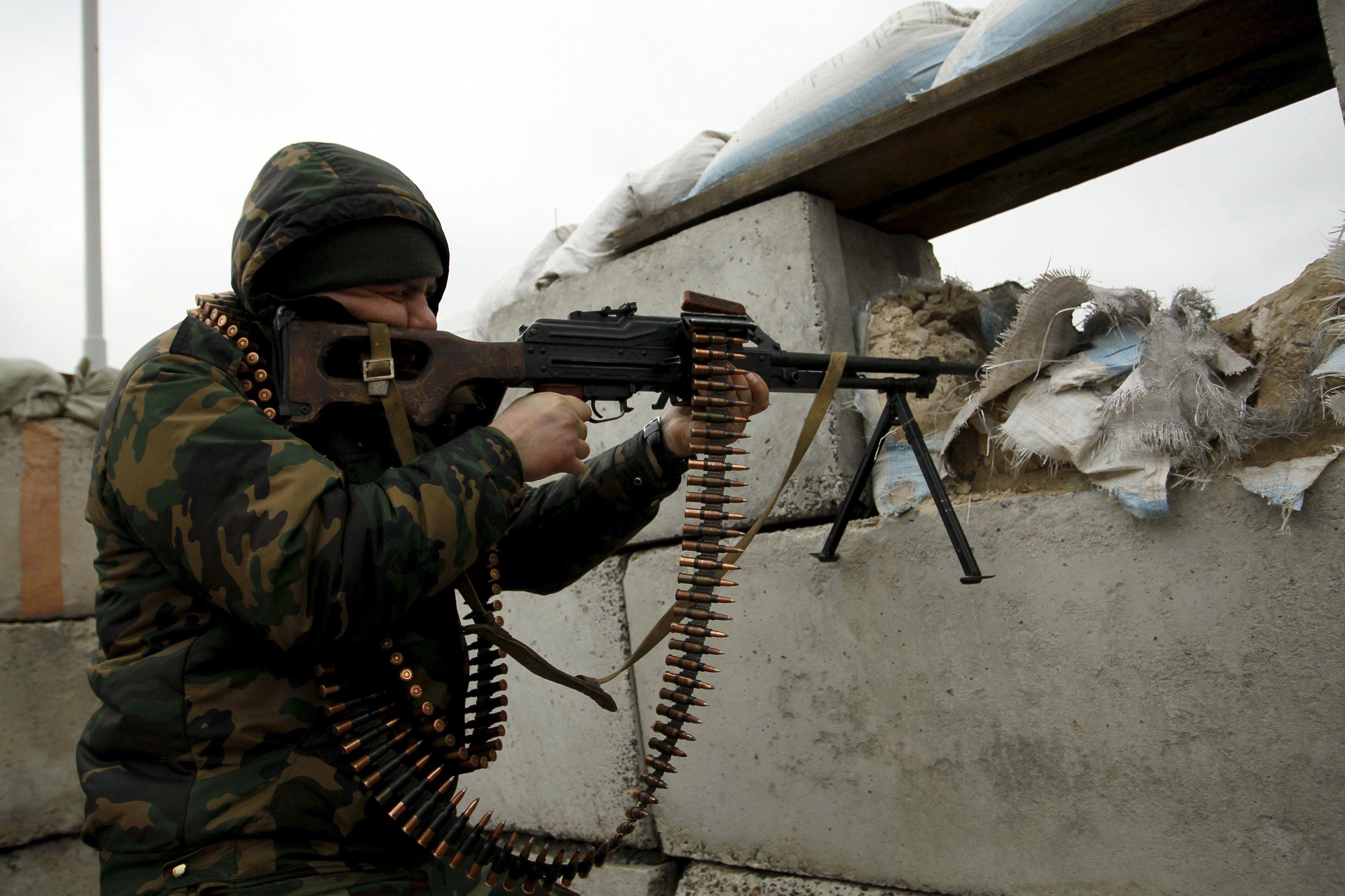 Боевики под Авдеевкой, иллюстрация