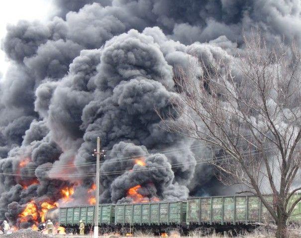 Пожар в Краснодоне