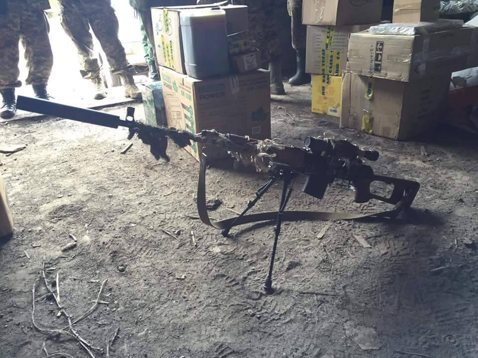 Снайперская винтовка украинских силовиков
