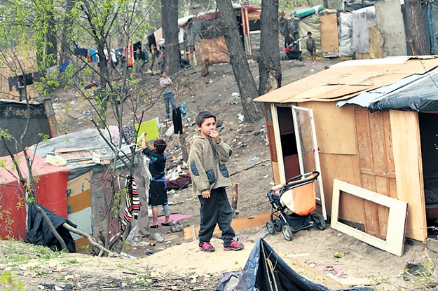 Табор ромов в Киеве