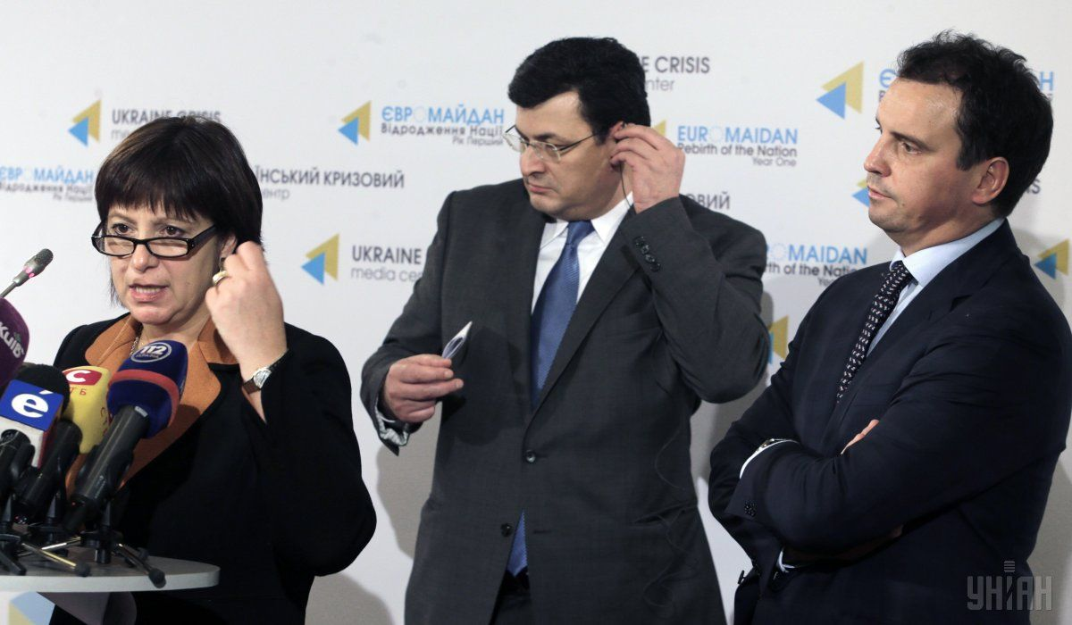 Наталія Яресько, Олександр Квіташвілі та Айварас Абромавічус