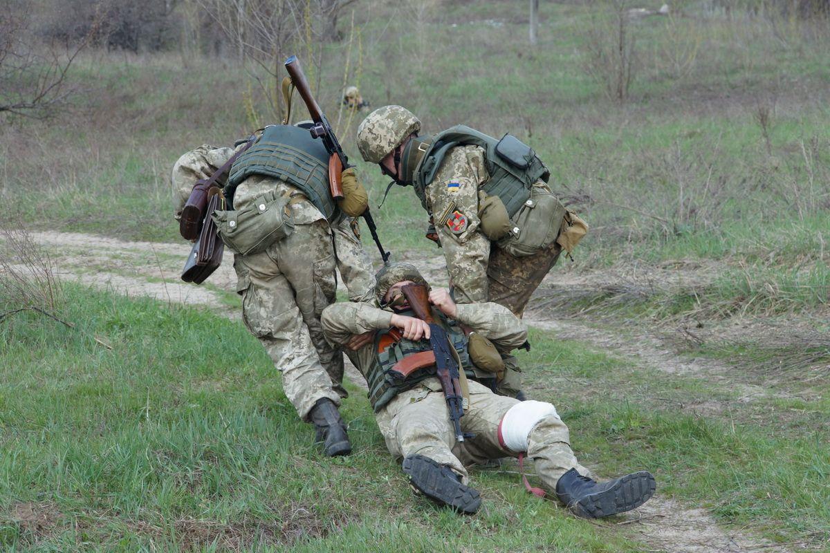 Раненый, силовик, учения, Харьков