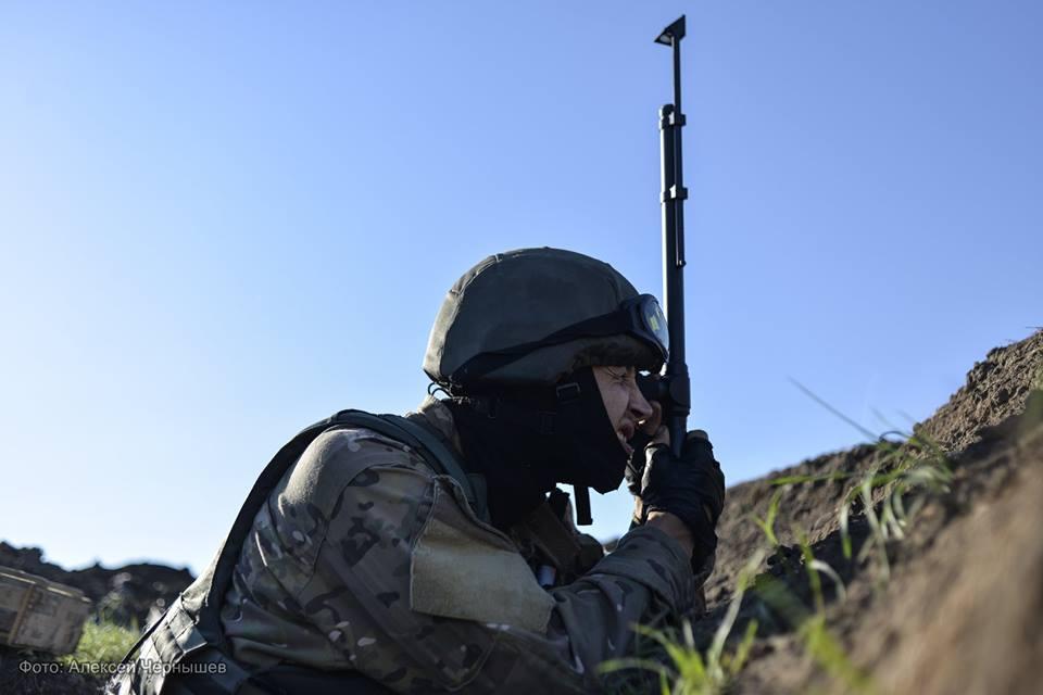Украинский военный в Зайцево, иллюстрация
