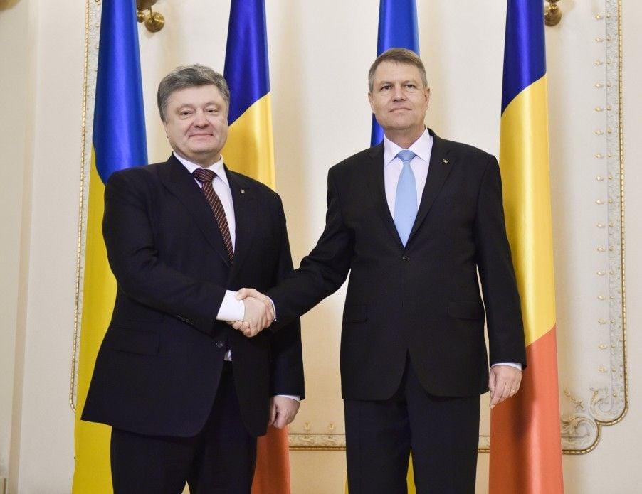 Петр Порошенко и президент Румынии Клаус Йоханнис