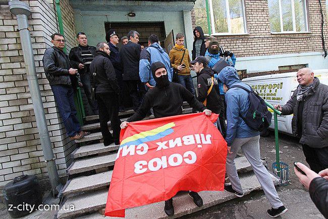 В Запорожье пророссийский политик Волга получил по голове, опубликованы фото и видео