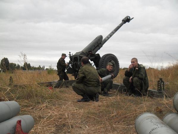 152 мм гаубица боевиков