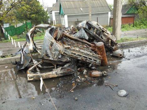 Взрыв на блокпосту в Еленовке.