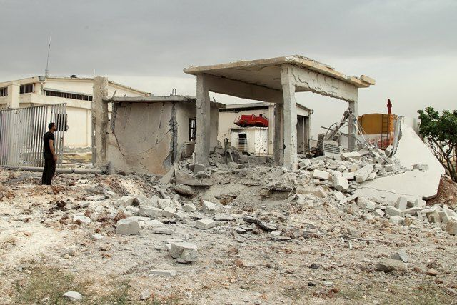 Обстрел провинции в Сирии, иллюстрация