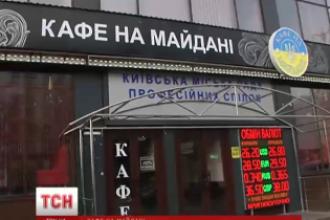 На Майдане демонтировали вывеску с названия кафе