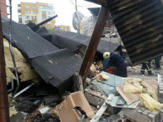 Последствия взрыва в Киеве