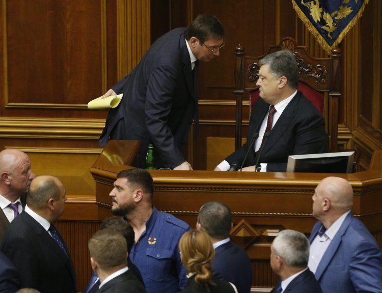 Луценко и Порошенко
