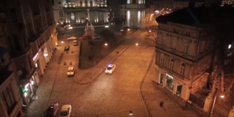 Патрульное авто во Львове, иллюстрация