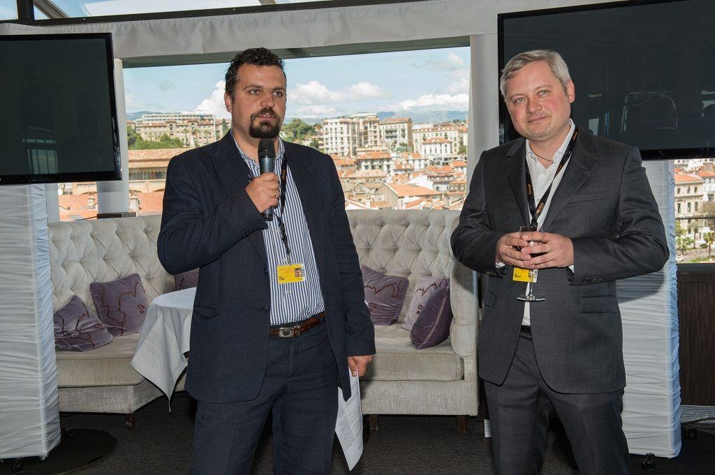 Глава Госкино Филипп Ильенко и меценат Игорь Янковский открывают бизнес-ланч