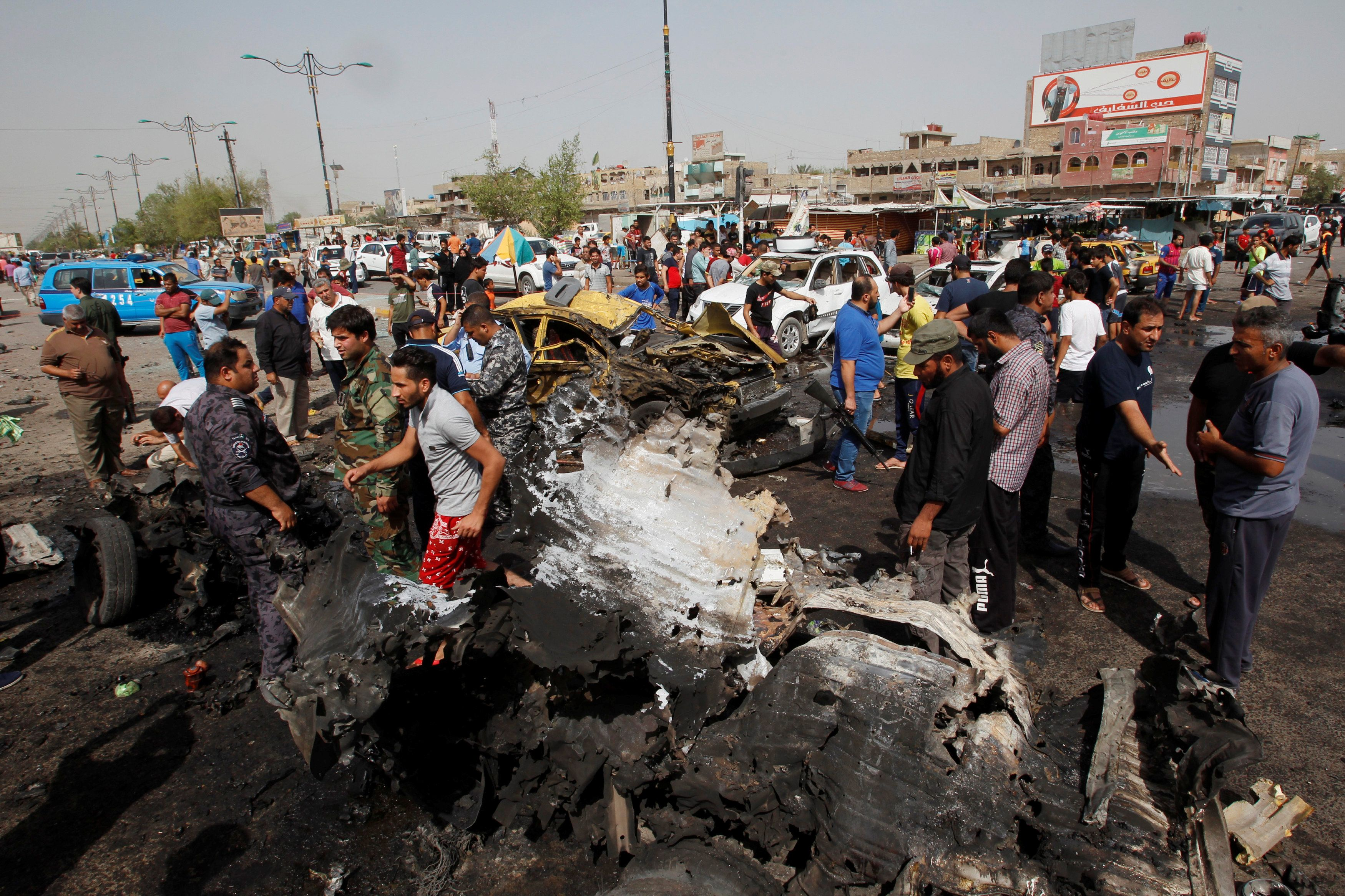 Последствия взрыва в Багдаде, иллюстрация