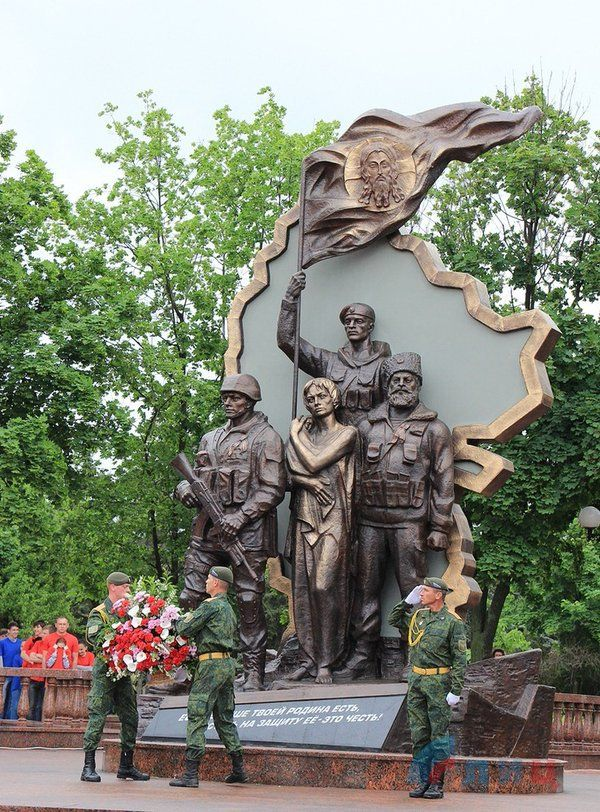В Луганске партизаны взорвали памятник оккупантам