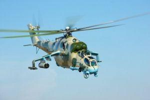 Ударный вертолет Ми-24.