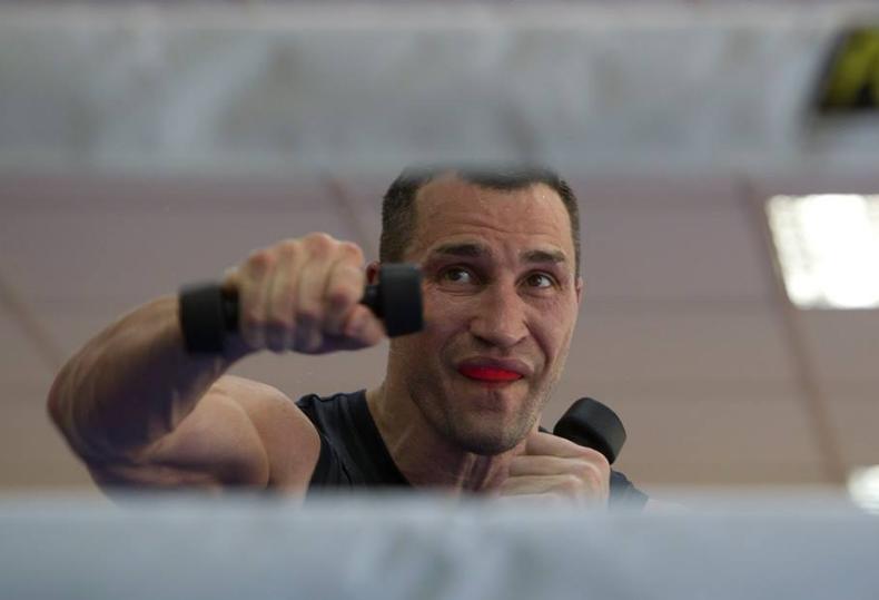 Владимир Кличко,Фьюри,тренировка