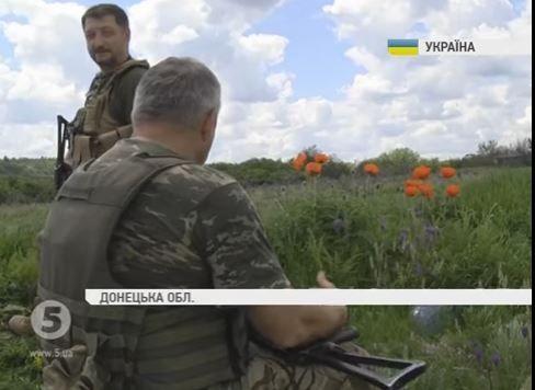 Силы АТО под Докучаевском.