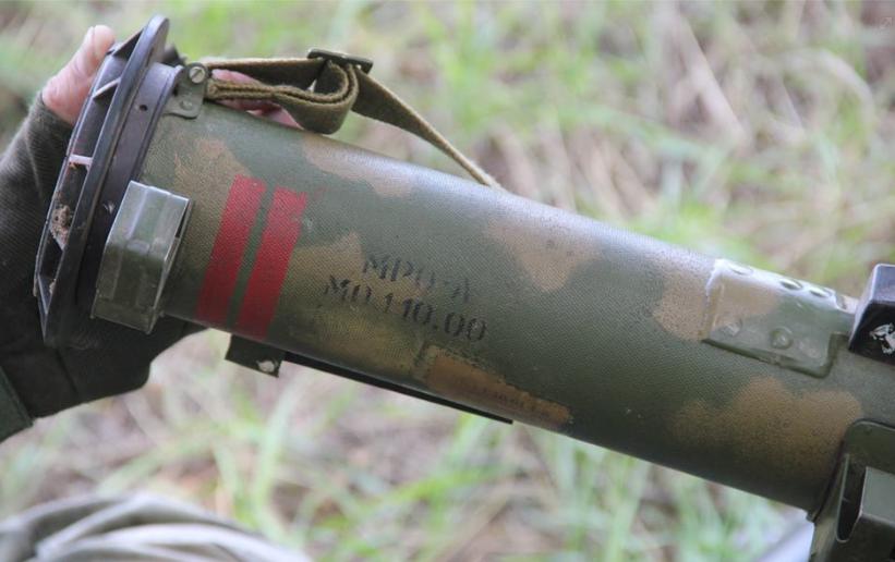 Захваченный российский огнемет
