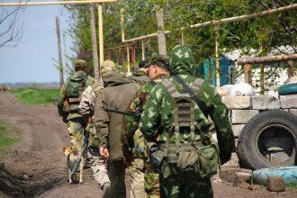 Украинские разведчики на Донбассе