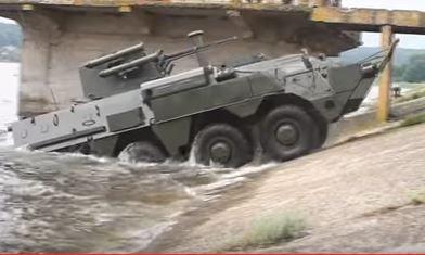 Водные испытания украинского БТР-4