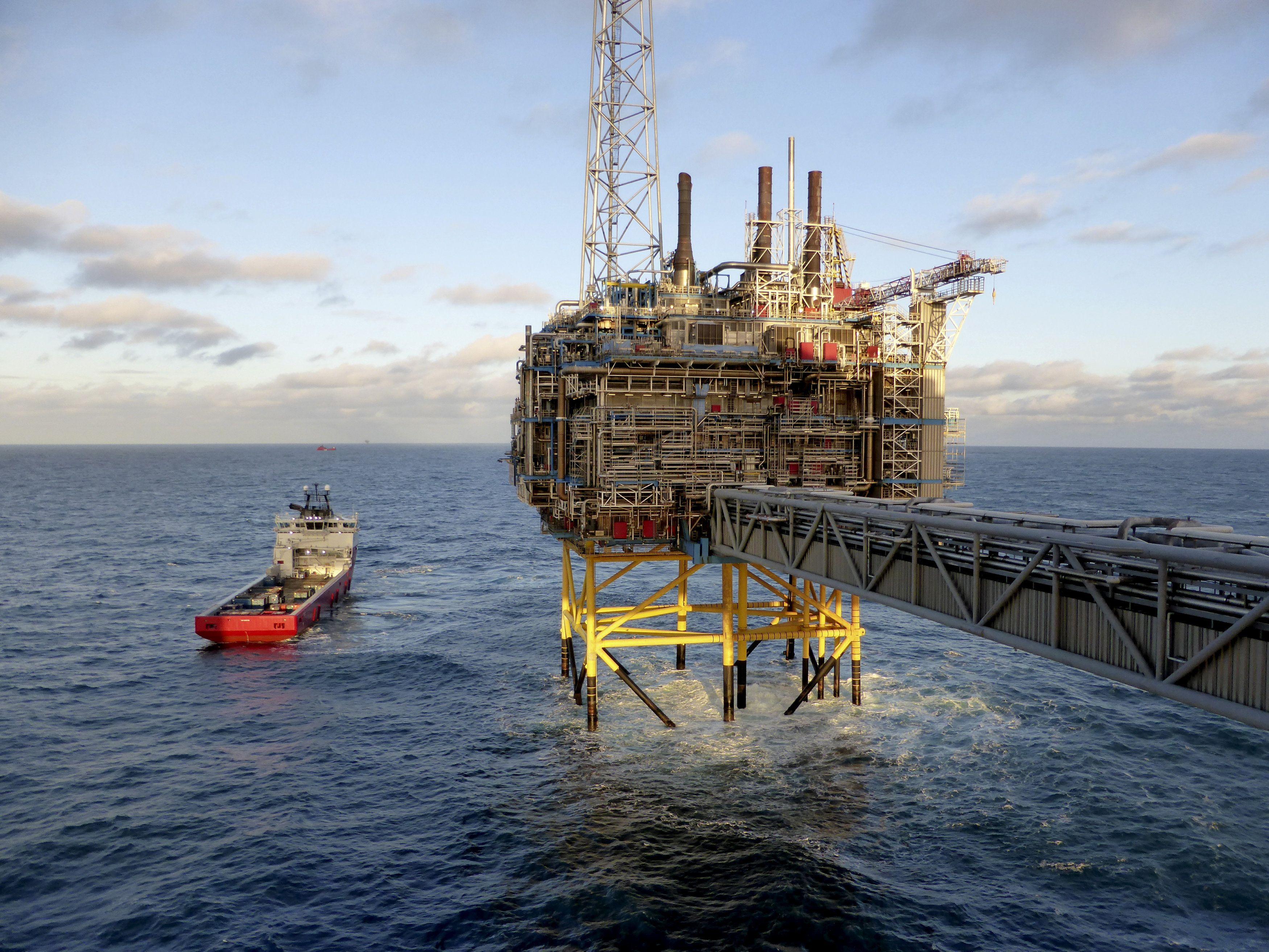 Нефтяная платформа, иллюстрация